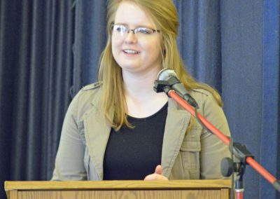 Speech Contestant Tessa Taft